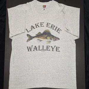 Vintage 1996 lake Erie walleye t-shirt